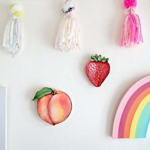 Image of Strawberry mini plaque