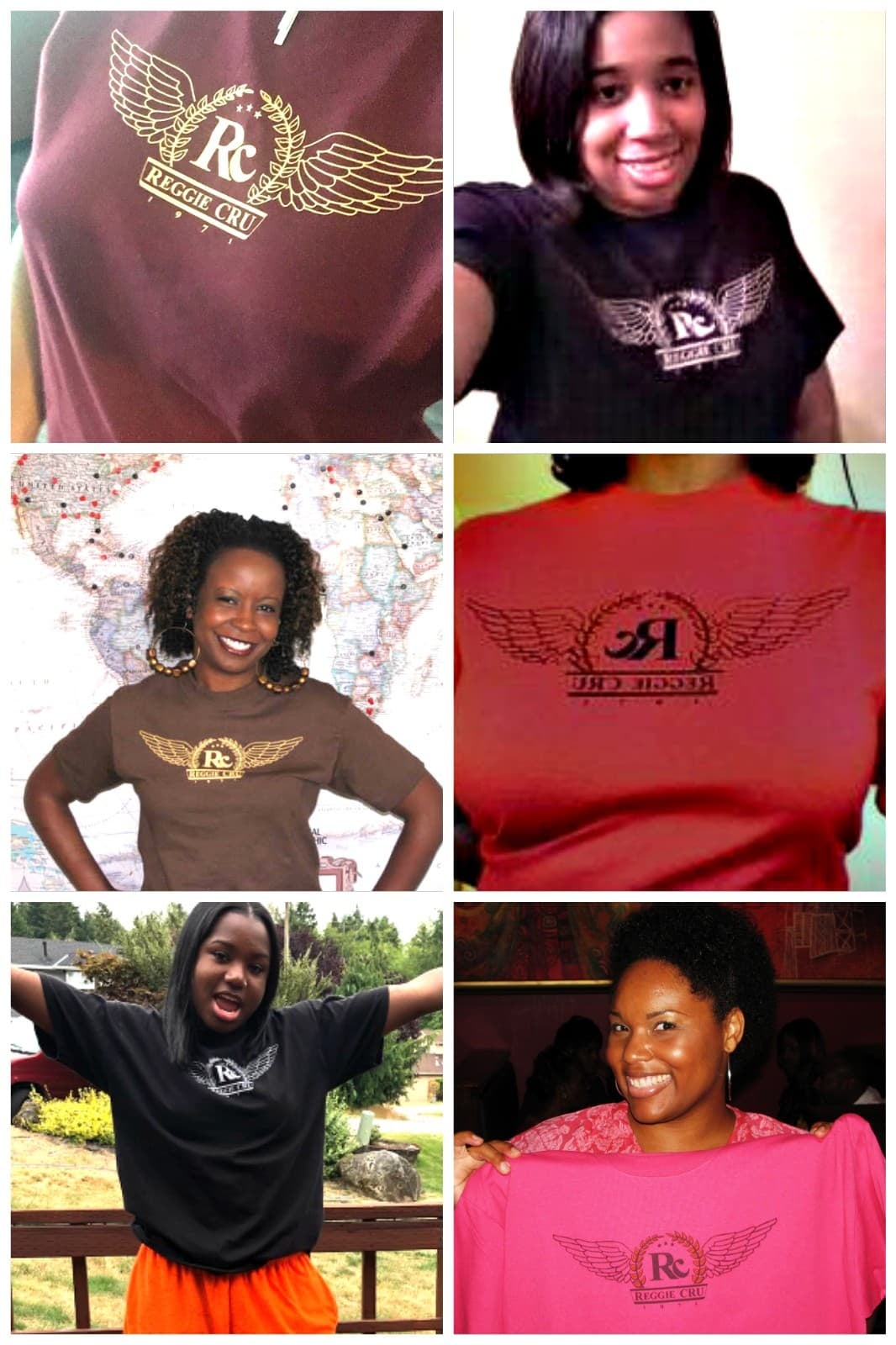 Image of Wings Tee Collage - Click desired color tee tile below & check for availability