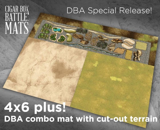 Image of DBA COMBO Gaming Battle Mat --  4'x6' plus  -- #124