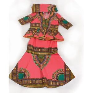 Image of Traditional Print Luxury Skirt Set