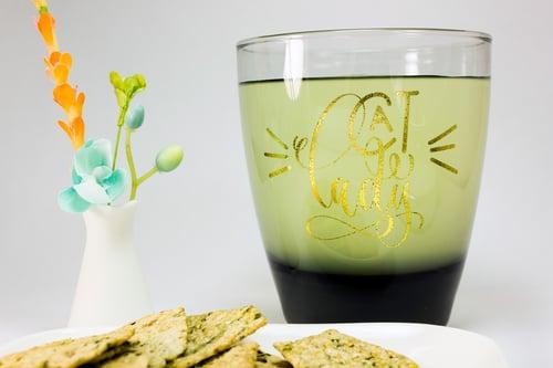 Image of Cat Lady Wine Glass - Smoked Gray, Customizable