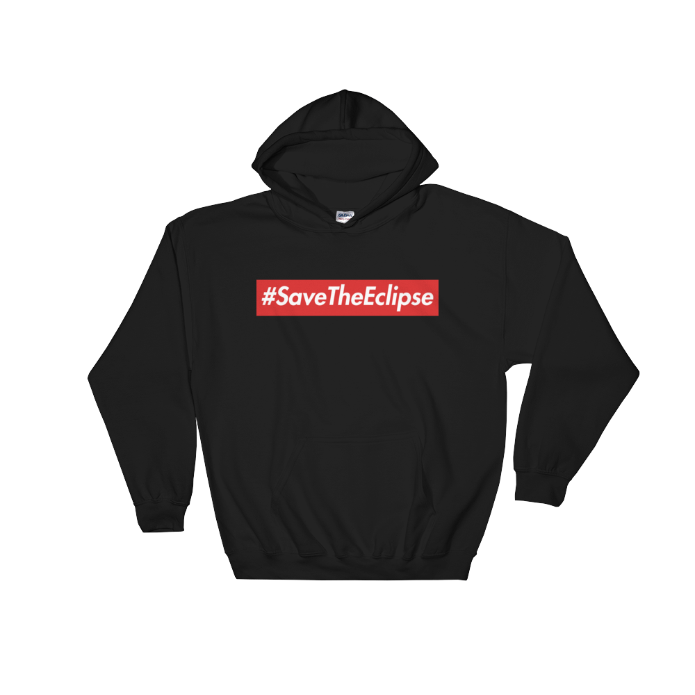 Image of #SaveTheEclipse | RED/BLACK HOODIE