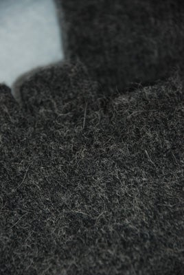 Image of Alpaca / Lambs wool Fingerless Gloves - Charcoal