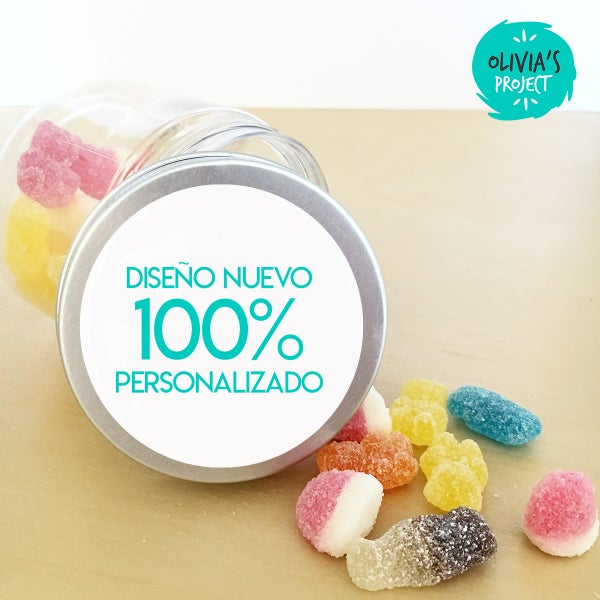 Image of Tarritos de Chuches Bautizo - 100% personalizado