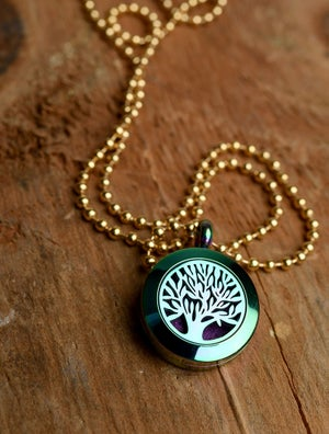 Image of Tree of Life Essential Oil Diffuser Necklace