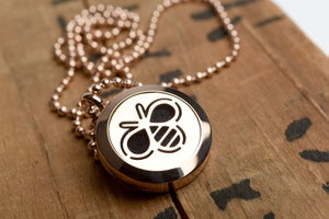 Image of Bee Essential Oil Diffuser Necklace