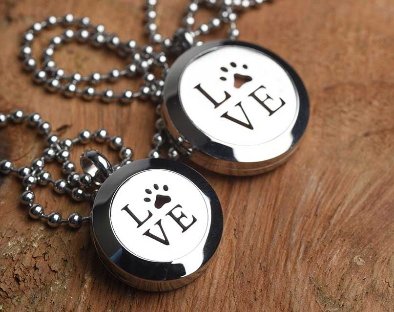 Image of LOVE Essential Oil Diffuser Necklace