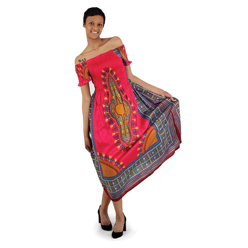 Traditional Print Elegance Dress