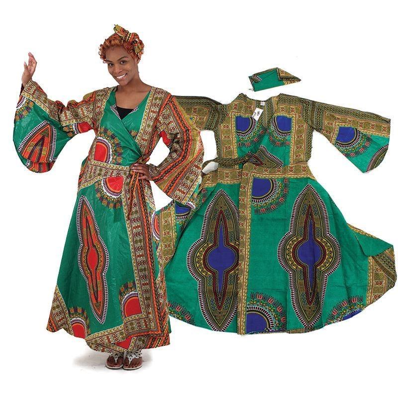 Image of Queen Angelia Print Wrap Dress