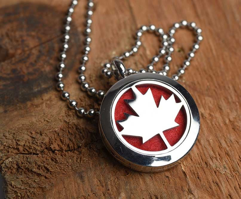 Image of Oh, Canada! Essential Oil Diffuser Necklace