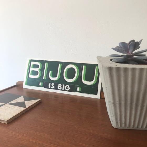 Image of Bijou is big print by Hooksmith Press