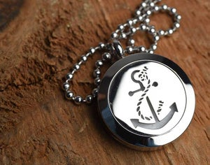 Image of Anchors Away Essential Oil Diffuser Necklace
