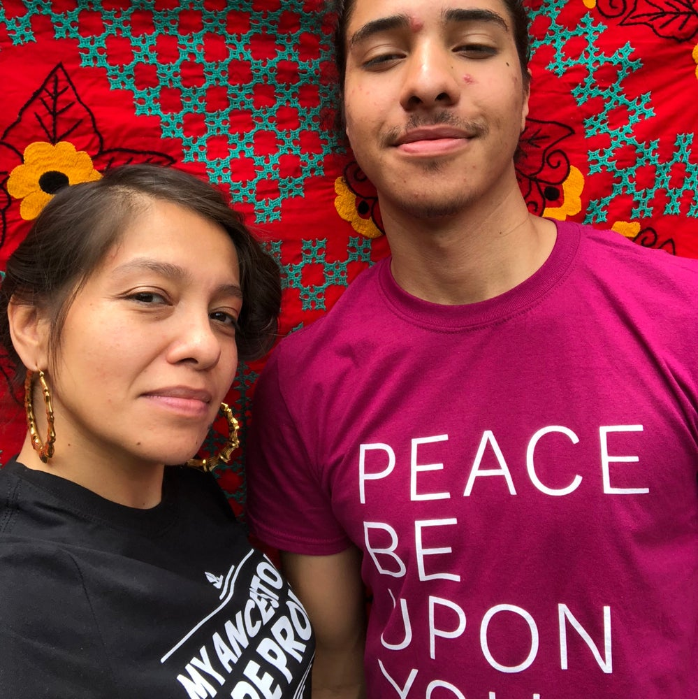 "Image of ""peace be upon you"" t-shirt"