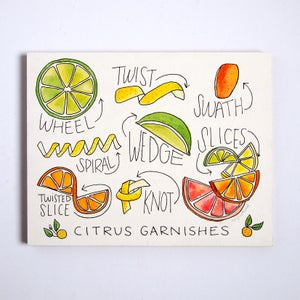 Image of Citrus Garnishes Painting - Original Artwork