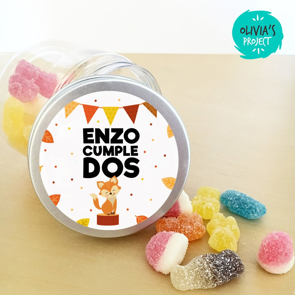 Image of Tarritos de chuches cumple - Foxie