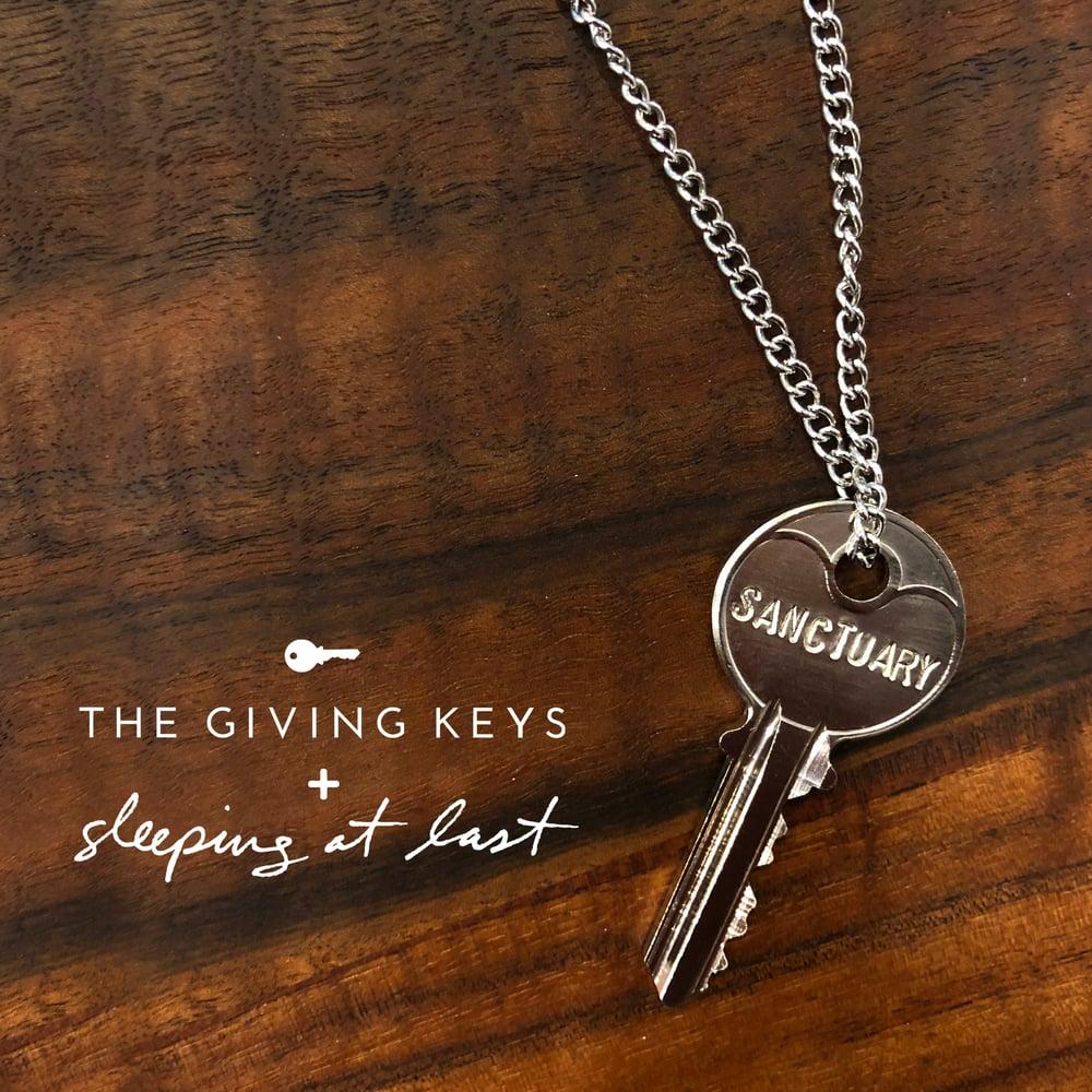 """Image of Enneagram 6 - """"SANCTUARY"""" Key Necklace"""