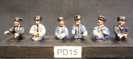 Image of PD15 Diesel and DMU drivers (half figures)