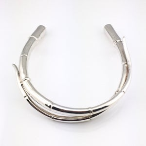 Image of SILVER DOUBLE TENDRIL COLLAR