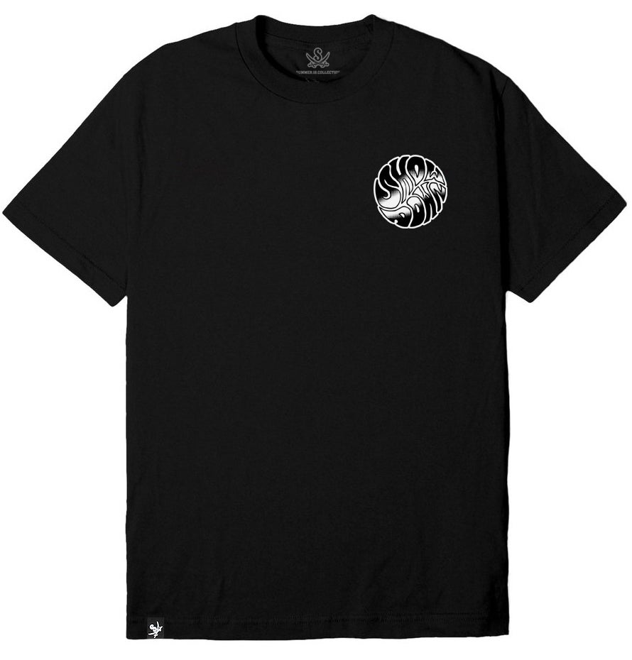 Image of BLACK ELECTRIC CIRCLE TSHIRT