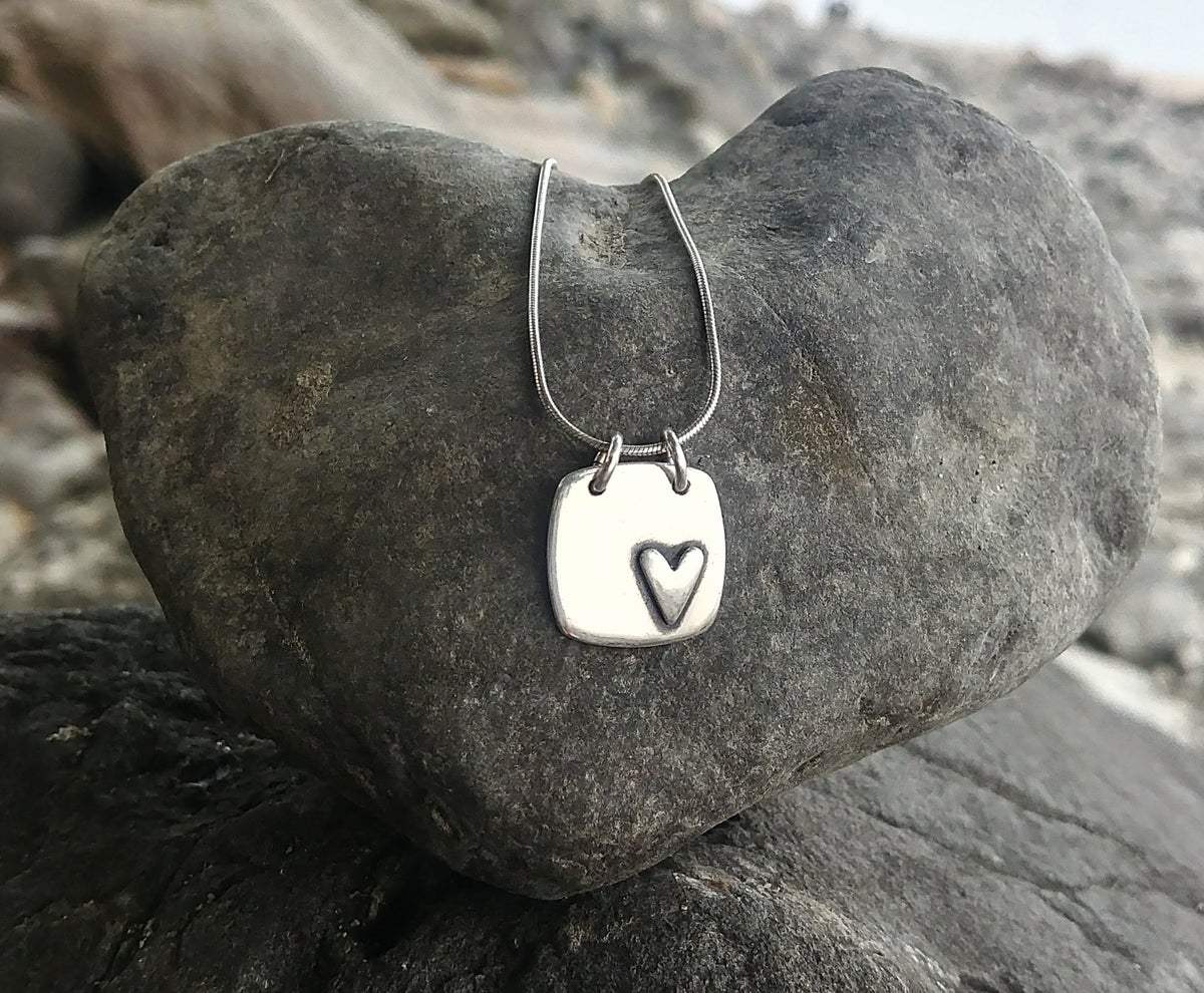 Image of Square Heart Necklace