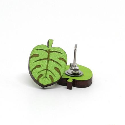 Image of Monstera Leaf Earrings