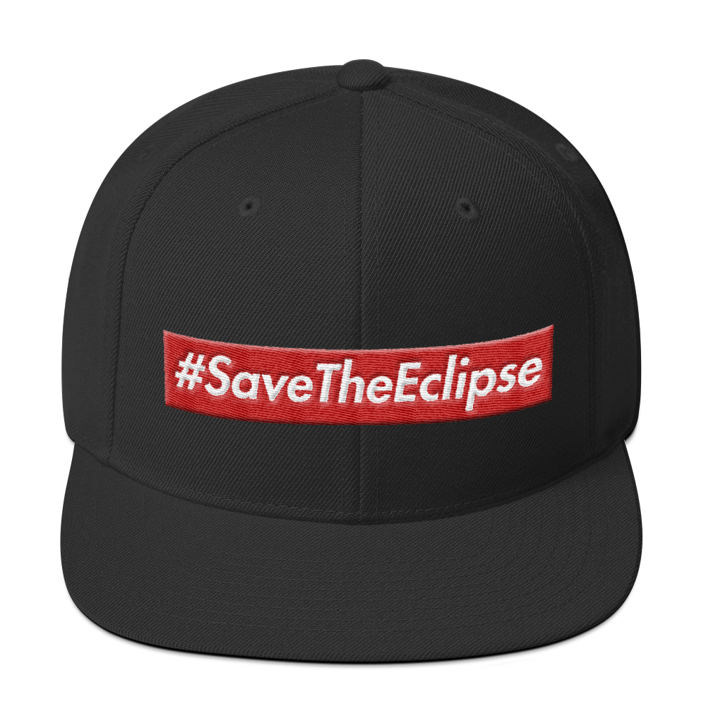 Image of #SaveTheEclipse | SNAP BACK BLACK/RED/WHITE