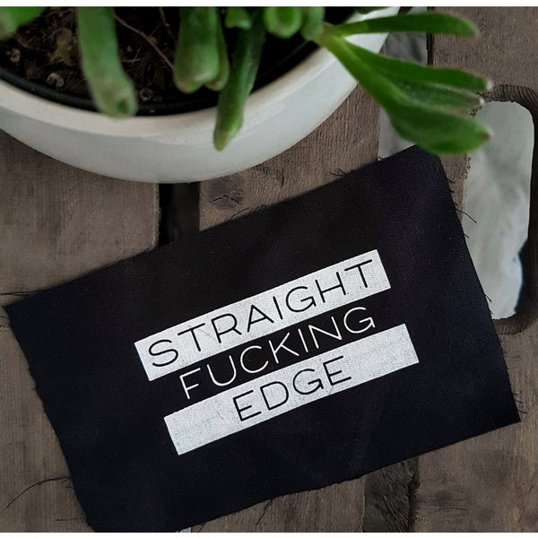 "Image of ""STRAIGHT FUCKING EDGE"" 