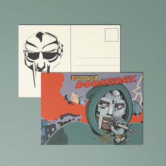 "Image of MF Doom ""Operation Doomsday"" Postcard"
