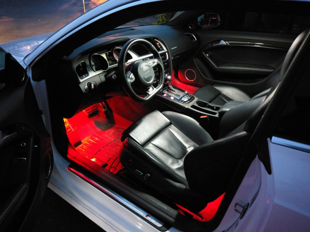 Image of Front & Rear Footwell LED Conversion Kit Fits: All Volkswagen/Audi with Pin Style Footwell boards