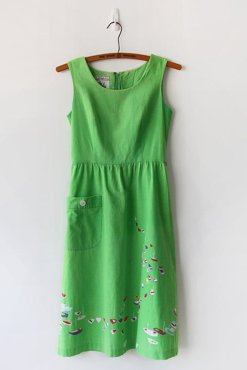 Image of SOLD Malia Honolulu Drifting Boats Dress