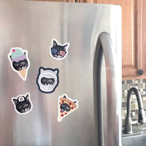 Image of gee whiskers series: cat magnets