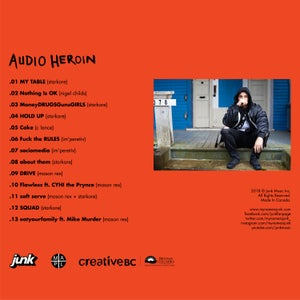 Image of Audio Heroin CD with personalized message