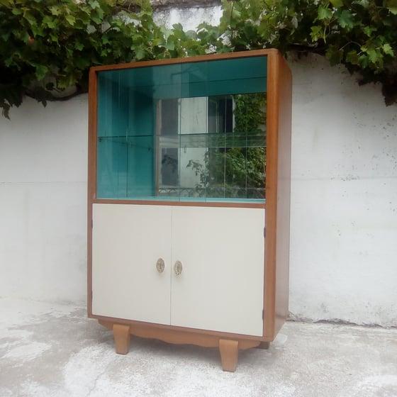 Image of Vaisselier vitrine années 50