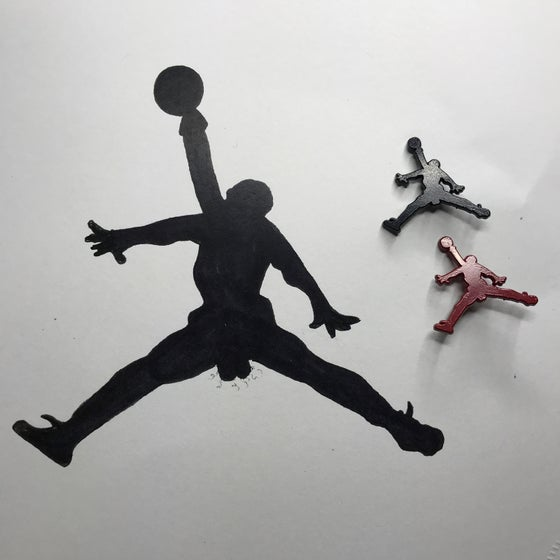 Image of Be like Mike Limited Edition Print and Pin set