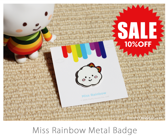 Image of Miss Rainbow Metal Badge