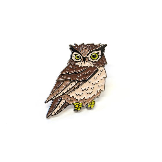 Image of Great Horned Owl Enamel Pin