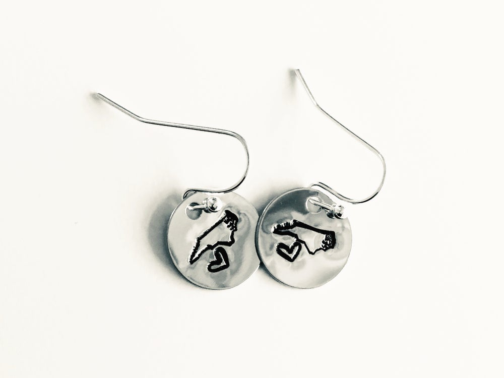 Image of NC State Earrings
