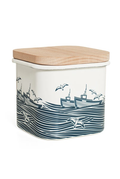 Image of Whitby 1.2L Enamelware Storage Jar