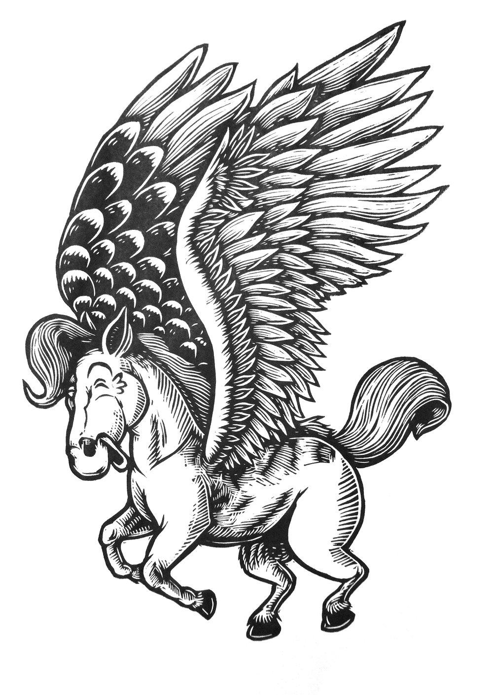 Pegasus T-shirt (B1) **FREE SHIPPING**