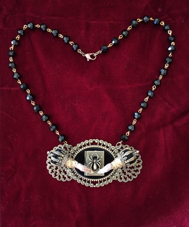 Image of Taxidermy necklace with sacred book