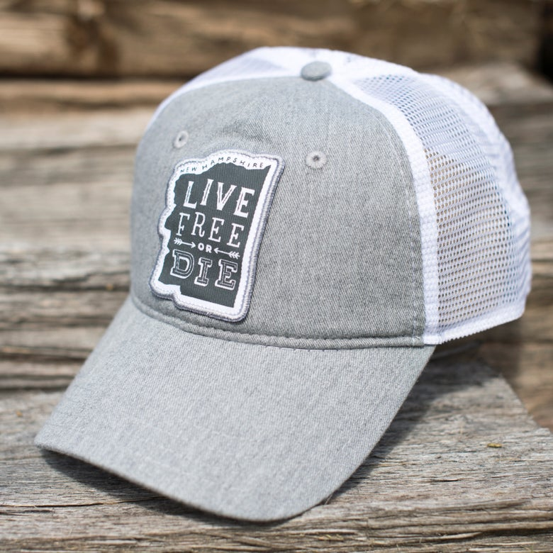Image of Stone Grey Old Man Trucker Hat
