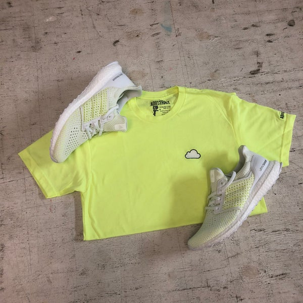 Image of CLOUD (BLUE TINT/ NEON YELLOW) EMBROIDERY T-SHIRT