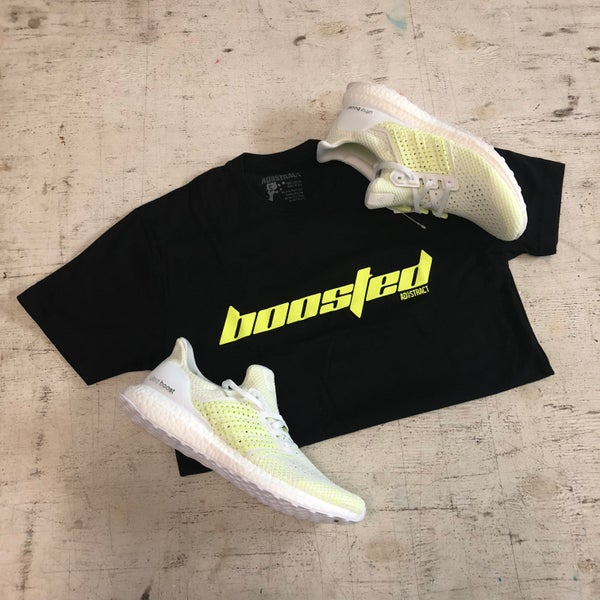 "Image of BOOSTED ""CALABASAS"" NEON YELLOW --- T-SHIRT OR DAD HAT"