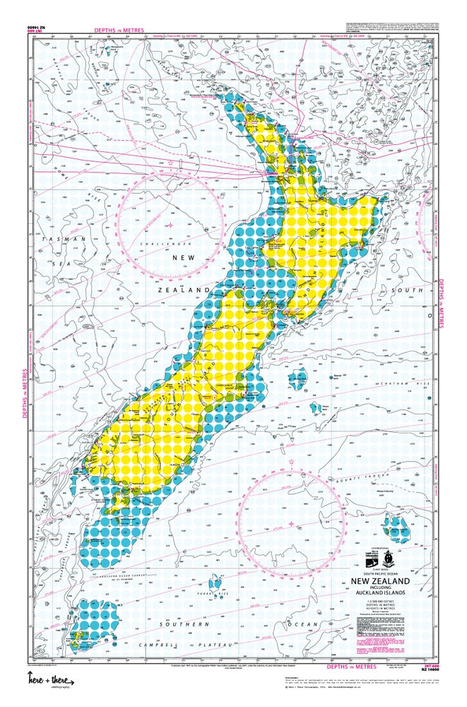 New Zealand Auckland Map.New Zealand Map Yellow Polka