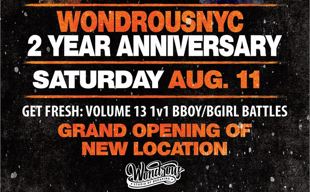 Image of Wondrous Two Year Anniversary & Get Fresh