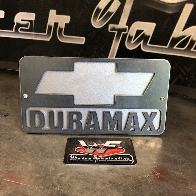 Image of Chevrolet DURAMAX Two Layer Hitch Cover - LB7 LLY LBZ LMM LML L5P