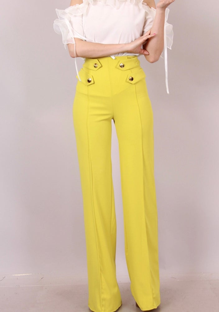 Image of Yellow high waist