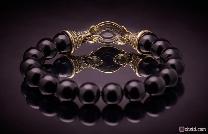 AEGISHJALMUR BRACELET Black Agate