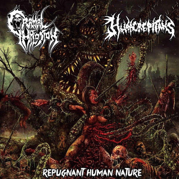 Image of HURA CREPITANS/CRANIAL IMPLOSION (chi) repugnant human nature [chaotic brutal records] $7.500
