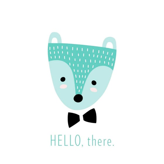 Image of HELLO, THERE. ART PRINT